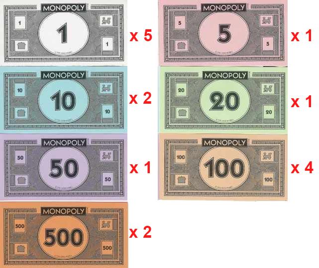 Cuanto dinero se reparte en el Monopoly